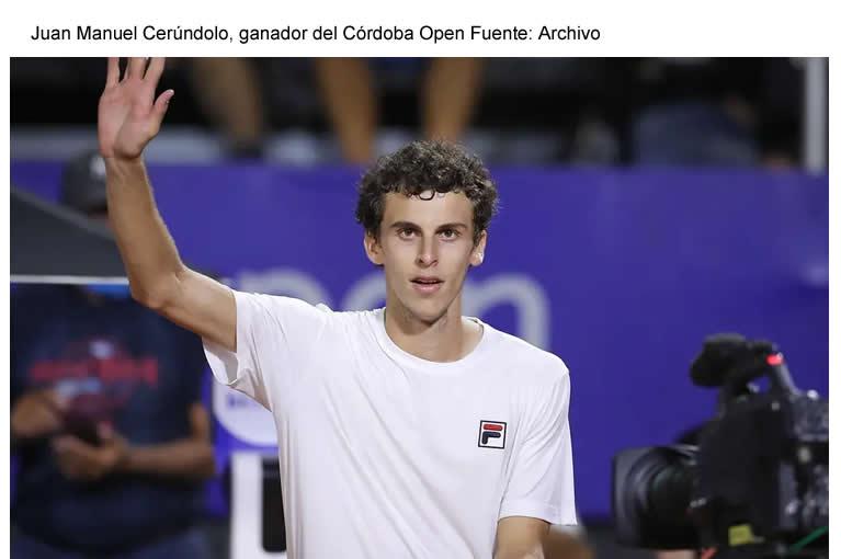 Juan Manuel Cerúndolo, histórico: campeón del Córdoba Open a los 19 años
