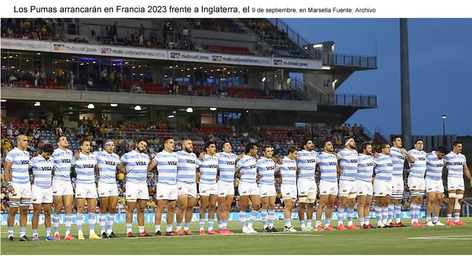 Mundial Francia 2023: se sorteó el fixture del torneo y los Pumas debutarán contra Inglaterra
