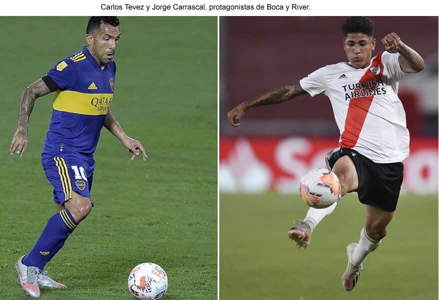 Boca – River: horario, TV y formaciones del superclásico en la Copa de la Liga
