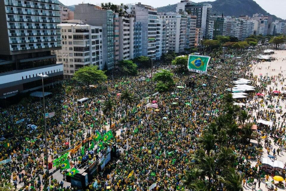 La manifestación de apoyo a Bolsonaro no alcanzó los números esperados