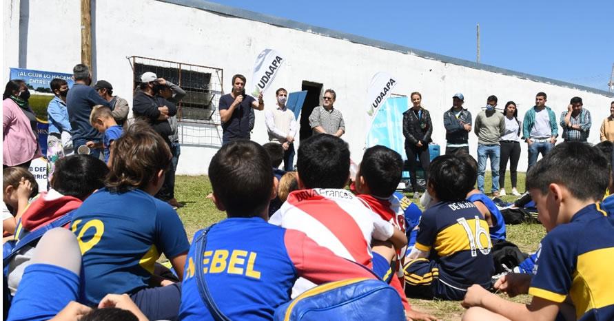 LOS CHICOS DEL CLUB NEBEL PARTICIPARON DEL PROGRAMA NACIONAL CUSTODIOS DEL AGUA